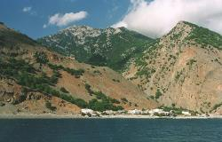 Agia Roumeli from the sea