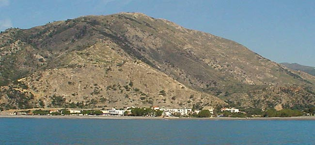View of Sougia from the sea