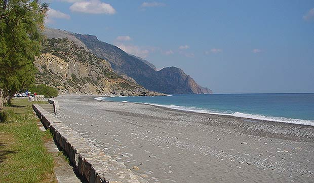 The beach of Sougia in April